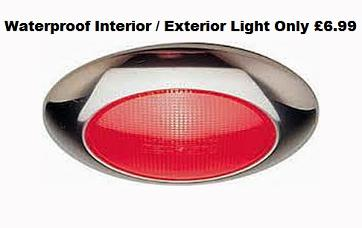 Red Stainless Finish Waterproof Boat Navigation Light