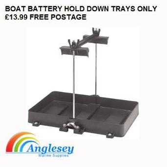 boat battery hold down tray