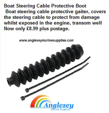 boat steering cable boot