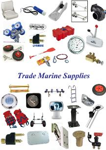 trade marine supplies-boating items-outboard brackets-boat seats-boat electrics-outboard control cables-boat steering-boat trailer rollers-boat parts-boat items-dinghy launching trolleys-chandelry-anglesey-boat trailer parts.
