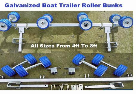 how to make boat trailer bunks
