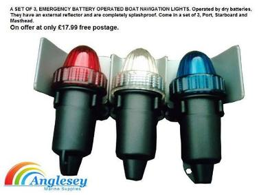 Battery Operated Emergency Navigation Lights